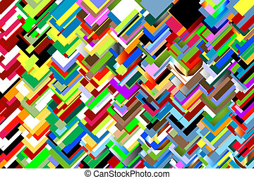 Chaotic colours - Colourful background