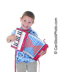 Hot Time - Boy playing an accordion