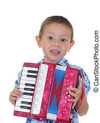 Accordion Kid Two - Boy playing an accordion