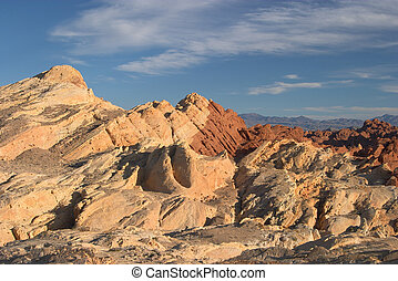 Fire Canyon in Nevadas Valley of Fire State Park, near Las...