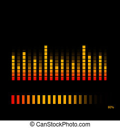 Equalizer - Red and Orange Volume Equalizer