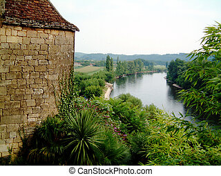 Dordogne River - Dordogne river from La Roque Gagneac