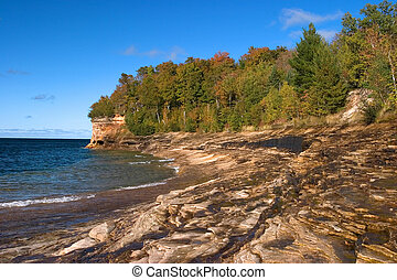 Lake Superior\'s Mosquito Beach in Fall