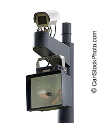 Surveillance cam - Public surveillance camera near the entry...