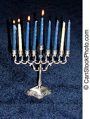 Hanukkah - Day 3 - menorah with the first three candles lit