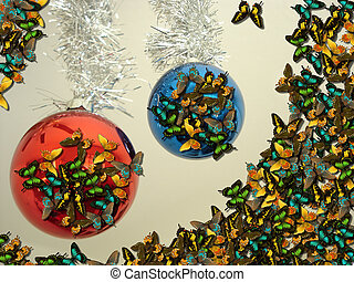 Christmas Fantasy - Butterfly Invasion on Christmas...
