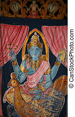 Hindu god Shiva - Anciend portrait of Lord Shiva the Creator...