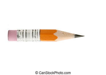 pencil - short yellow and isolated