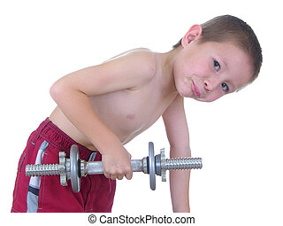 Pocket Hercules 11 - Boy lifting weights