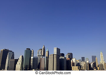 lower manhattan - View of lower manhattan from the brooklyn...