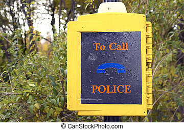 Police call box in central park to reassure park users, new...