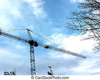 起重機, 建設