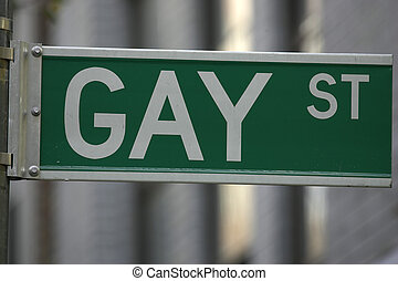 Gay street sign, greenwich village, lower manhattan, New...