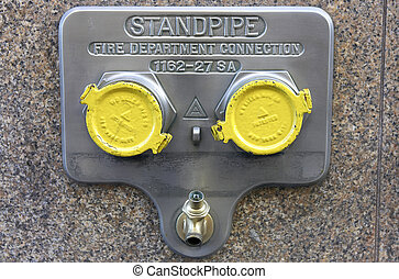 Standpipe connection, manhattan, new york, America, usa