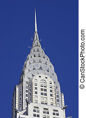 Chrysler building - Top of the Chrysler building, Manhattan,...