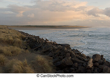 The South Jetty - Photo taken from the observation deck at...