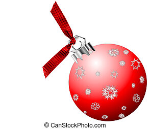 Red Christmas Ornament - Red Christmas tree ornament with...