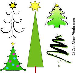Christmas trees - Stylised Christmas trees