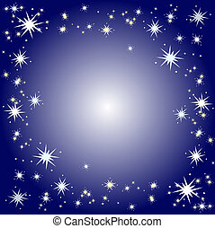 Starry background - Winter themed background