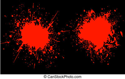 Blood splats - Red splats on black