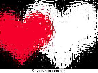 Grunge love - Grunge valentines background