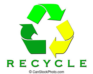 RECYCLE WITH white BACKGROUND
