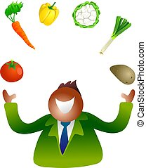 juggling vegetables - heath and nutrition