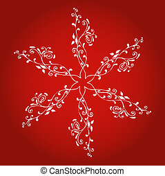 Decorative snowflake - Stylised snowflake