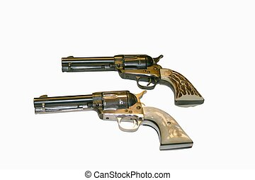 Stacked Pistols - Colt single action peacemakers