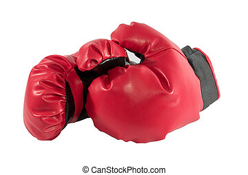 Boxing gloves - Red boxing gloves, separated