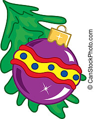 Chistmas ornament - Vibrant and colorful illustration of a...