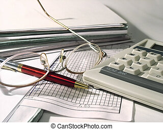 Accounting - Paperwork at evening