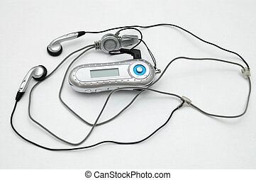 MP3 player with ear piece