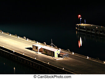 Night Watchhouse - Deserted wharf at night