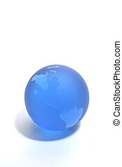 Paperweight - Blue Glass Globe Paperweight