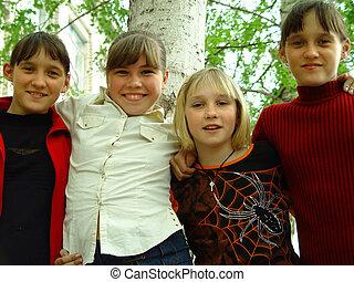 We happy together! - happy school girls
