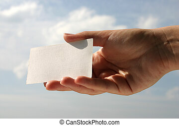 blank business card - holding blank business card 6