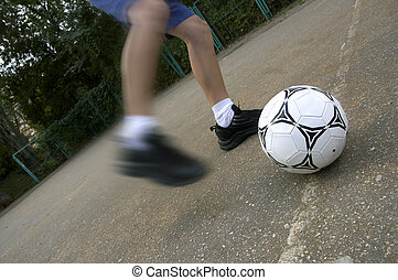 soccer on the street - street soccer