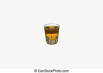 Shot of Whiskey - shot glass of whiskey