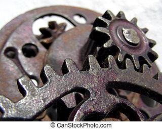 Gears, Gears, Gears - Multiple gears on antique apple corer