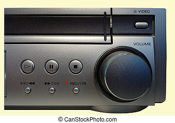 VHS Recorder - Control Panel of a DVD/VCR Receiver