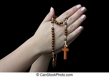praying with a rosary 2