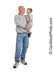 Father Son Family - Caucasian father and son in casual...