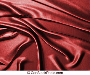 Red silk - Waves of red silk