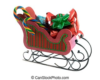 sleigh - isolated sleigh with goodies