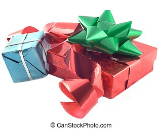 present 3 - presents isolated over-white