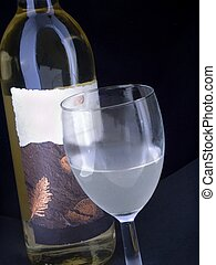 wine and glass 2 - wine bottle and coldfrosted glass