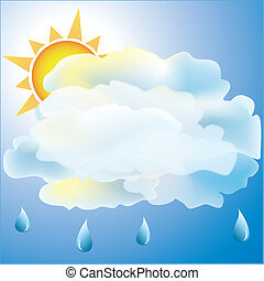 Mostly Cloudy with rain weather icon