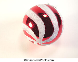 Candy Stripe ornament - Red and white candy striped...