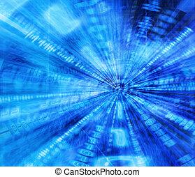 Binary tunnel - Binary code abstract